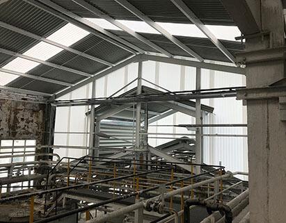 Reforma del interior de la nave industrial de Simal